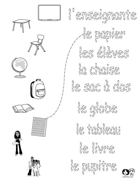 school worksheets french french worksheets for children