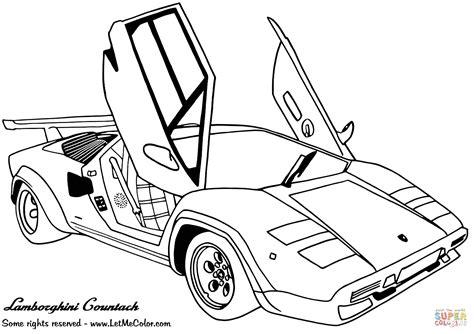 Auto Kleurplaat Lamborghini by Lamborghini Countach Kleurplaat Gratis Kleurplaten Printen