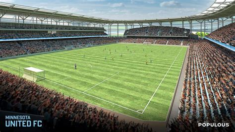 minnesota united unveils st paul mls stadium renderings