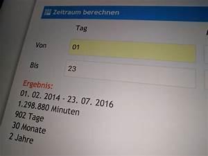 Geburtstag Berechnen : den zeitraum zwischen zwei daten berechnen der tutonaut ~ Themetempest.com Abrechnung