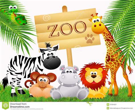 wild animals cartoon stock illustration illustration