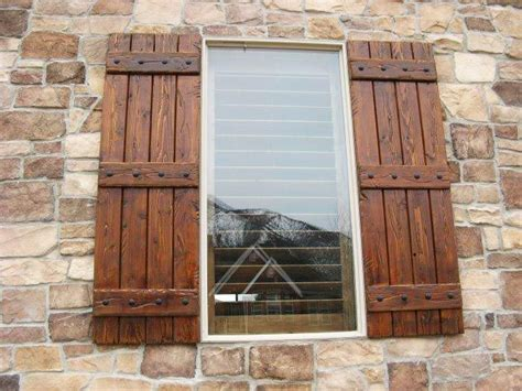 Wooden Shutters by Best 25 Exterior Wood Shutters Ideas On Diy
