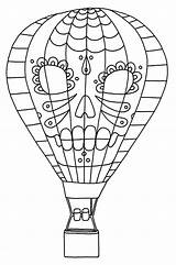 Balloon Coloring Air Pages Printable Dia Los sketch template