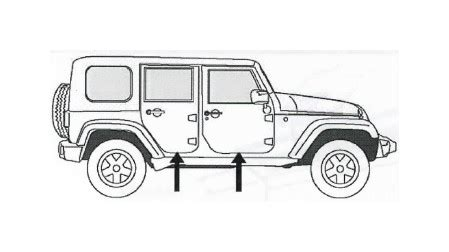 4 door jeep drawing how to install mopar door sill guards w jeep logo