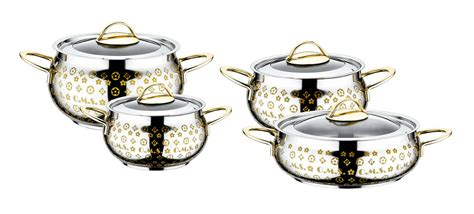 oms  piece commercial professional cookware stock pot set  ssteel