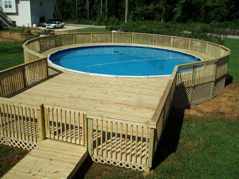 Simple Above Ground Pool Deck Ideas  Tedxumkc Decoration