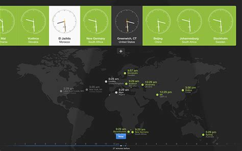 world clock visual time keeping app daynight tool mac