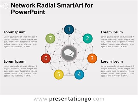 smartart powerpoint templates network radial smartart for powerpoint presentationgo com