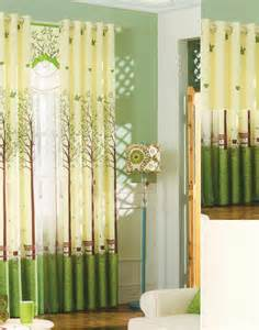 Green Pattern Curtains