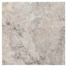 argento brushed travertine tile 8in x 8in floor and