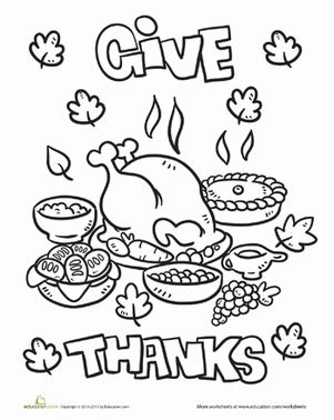 thanksgiving dinner worksheet education 853 | thanksgiving dinner coloring page holiday