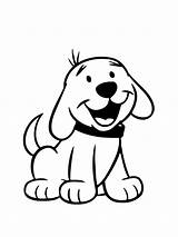 Dog Clipart Coloring Clip sketch template