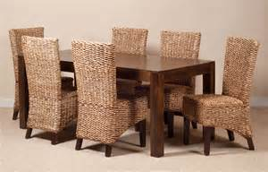 Dining Room Table And Chair Sets Finding The Best Wicker Dining Room Chairs