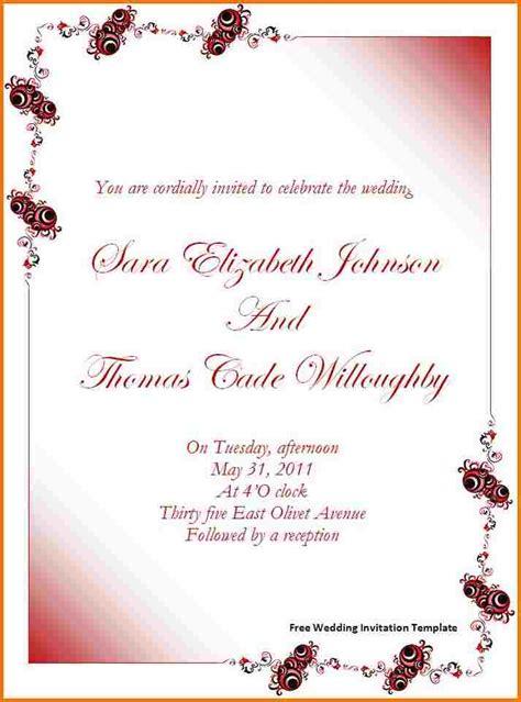 wedding invitation templates  word authorization