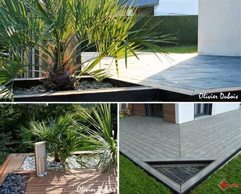 des jardinieres incorporees pour decorer ma terrasse composite