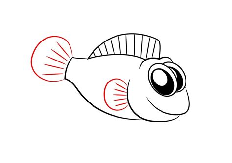 cartoon fish drawings clipart