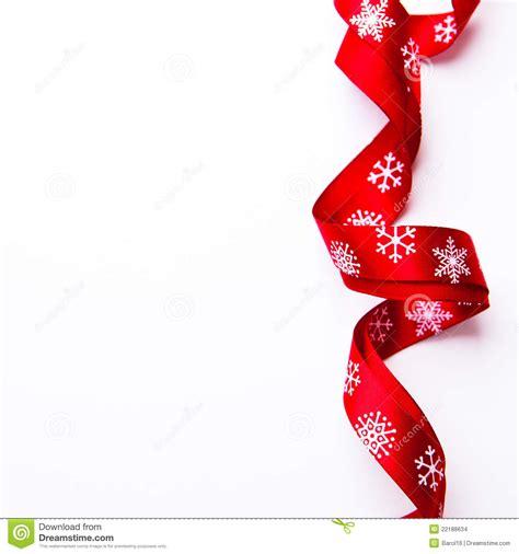 christmas gift ribbon  white background stock photo