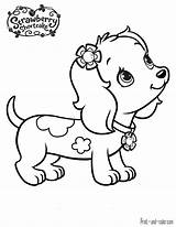 Coloring Strawberry Shortcake Dog Animal Dogs Printable Cartoon Frozen Henna Colouring Drawing sketch template