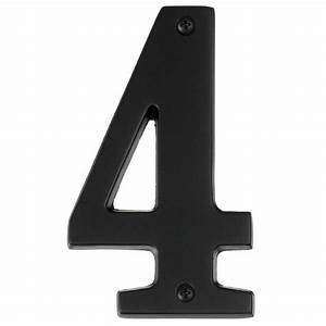 bronze 5 inch house number four alno inc backplates With outdoor house numbers and letters