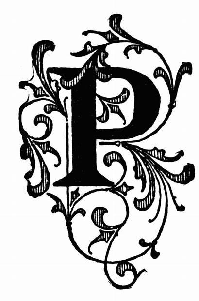 Letter Letters Fancy Clipart Lettering Monogram Floral