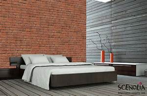Papier Peint Style Industriel : papier peint industriel trompe l 39 oeil mur de briques rouges ~ Dailycaller-alerts.com Idées de Décoration
