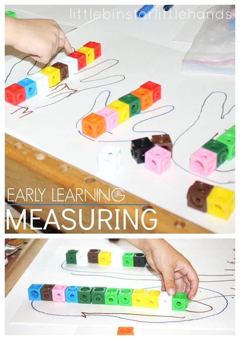 pre maths concepts for preschoolers preschool math measuring activity using and 974