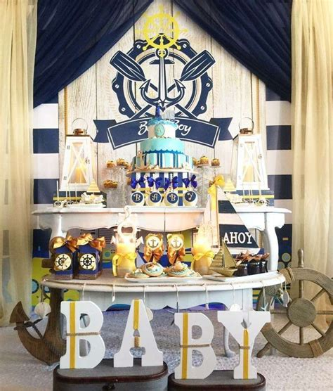 Baby Shower Theme For by Nautical Baby Shower Ideas Baby Shower