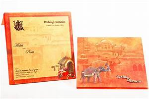Indian wedding invitation with images of a royal palace for Indian wedding invitations ecard free