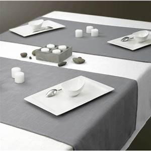 Nappe Rectangulaire Grise : nappe aspect lin rectangle 150x250 cm blanche achat ~ Teatrodelosmanantiales.com Idées de Décoration