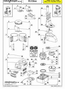 Robot Coupe R2 Dice Parts List