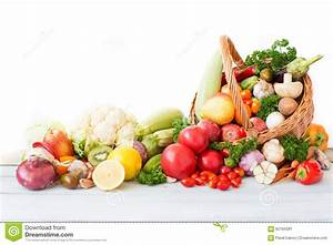 Fresh Vegetables And Fruit In Basket. Stock Photo - Image ...
