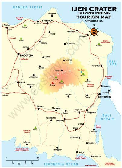 map  kawah ijen nature tourism park  surroundings