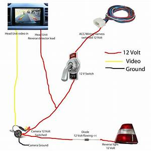 How To  Backup Camera Wiring With Reverse Switched  And Manual Switched On