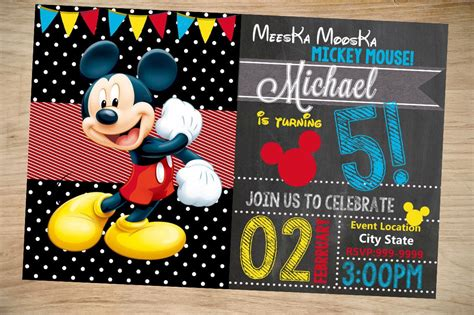 mickey mouse birthday invitation birthday invitation