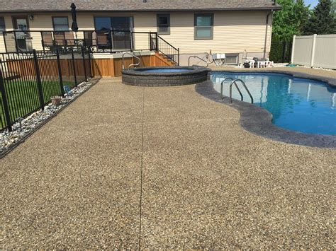macomb twp exposed aggregate sealing  concrete doctor