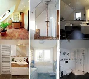 Kleine Duschbäder Gestalten : badezimmer mit dachschr ge moderne badewanne mit t r ~ Lizthompson.info Haus und Dekorationen