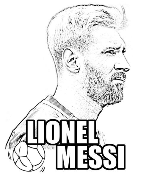 Kleurplaat Messi Ronaldo by Messi Drawings Coloring Pages