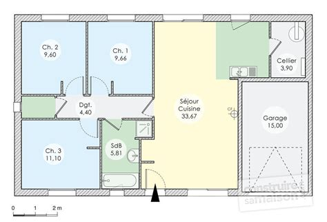 plan maison plain pied 2 chambres gratuit plan maison 110m2 plain pied 3 chambres ventana
