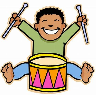 Clipart Playing Cartoon Musical Drums Instruments Summer