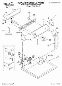 Whirlpool Ler4634pq1 Dryer Parts And Accessories At