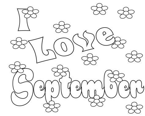 September Coloring Pages To Print, Preschool, Kindergarten