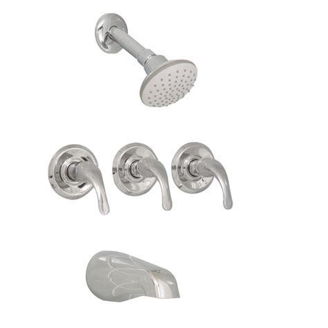 Three Handle Tub Faucet by Aquasource Chrome 3 Handle Bathtub And Shower Faucet With