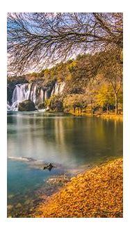 Kravice Waterfall In Bosnia Herzegovina Autumn Landscape ...