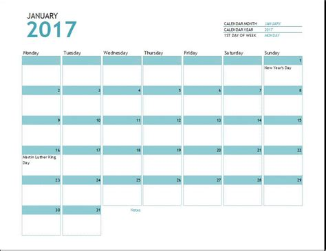 2017 Calendar Template Excel 2017 Calendar Templates For Ms Word Excel Word Excel