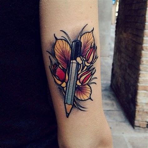 Best 25+ Pencil Tattoo Ideas On Pinterest  Doodle Art