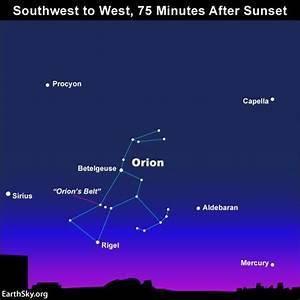 Use Orion's Belt to find Mercury | Tonight | EarthSky
