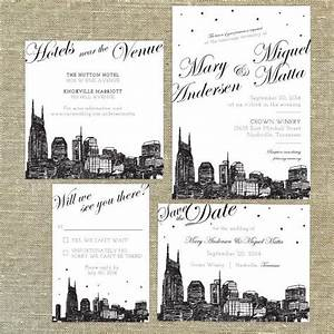 nashville skyline destination wedding invitation sample With wedding invitations nashville tn