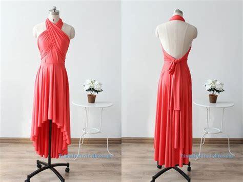 Coral Convertible Dress, Bridesmaid Dresses, Infinity