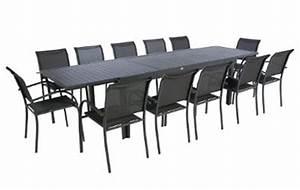 Table 12 Personnes : table extensible aluminium hesperide piazza 10 112 places ~ Teatrodelosmanantiales.com Idées de Décoration