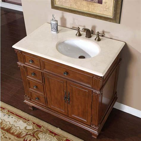Bathroom Vanities With Sinks And Tops by 36 Inch Single Sink Bathroom Vanity With Offset Sink